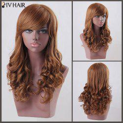Long Side Bang Curly Siv Human Hair Wig