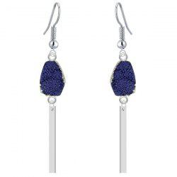 Boucles d'oreilles Faux Gem Bar Dangle - Bleu