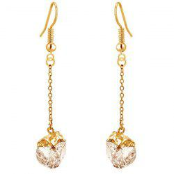 Faux Gem Gold Plated Dangle Earrings