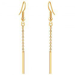 Gold Plated Bar Tassel Drop Earrings