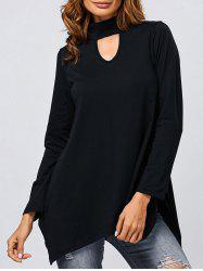 Hollow Out Asymmetrical Top -