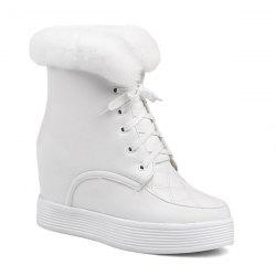Increased Internal Faux Fur Short Boots
