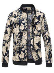 Stand Collar Floral Jacket