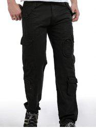 Zip Fly Pockets Military Army Cargo Pants -