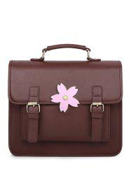 Sakura Buckle Strap Satchel Bag