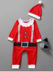 Baby Christmas Clothes Outfits Kids Jumpsuit - RED