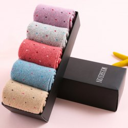One Set Warm Polka Dot Pattern Macarons Candy Color Socks