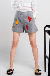 Woool Blend Patched Shorts