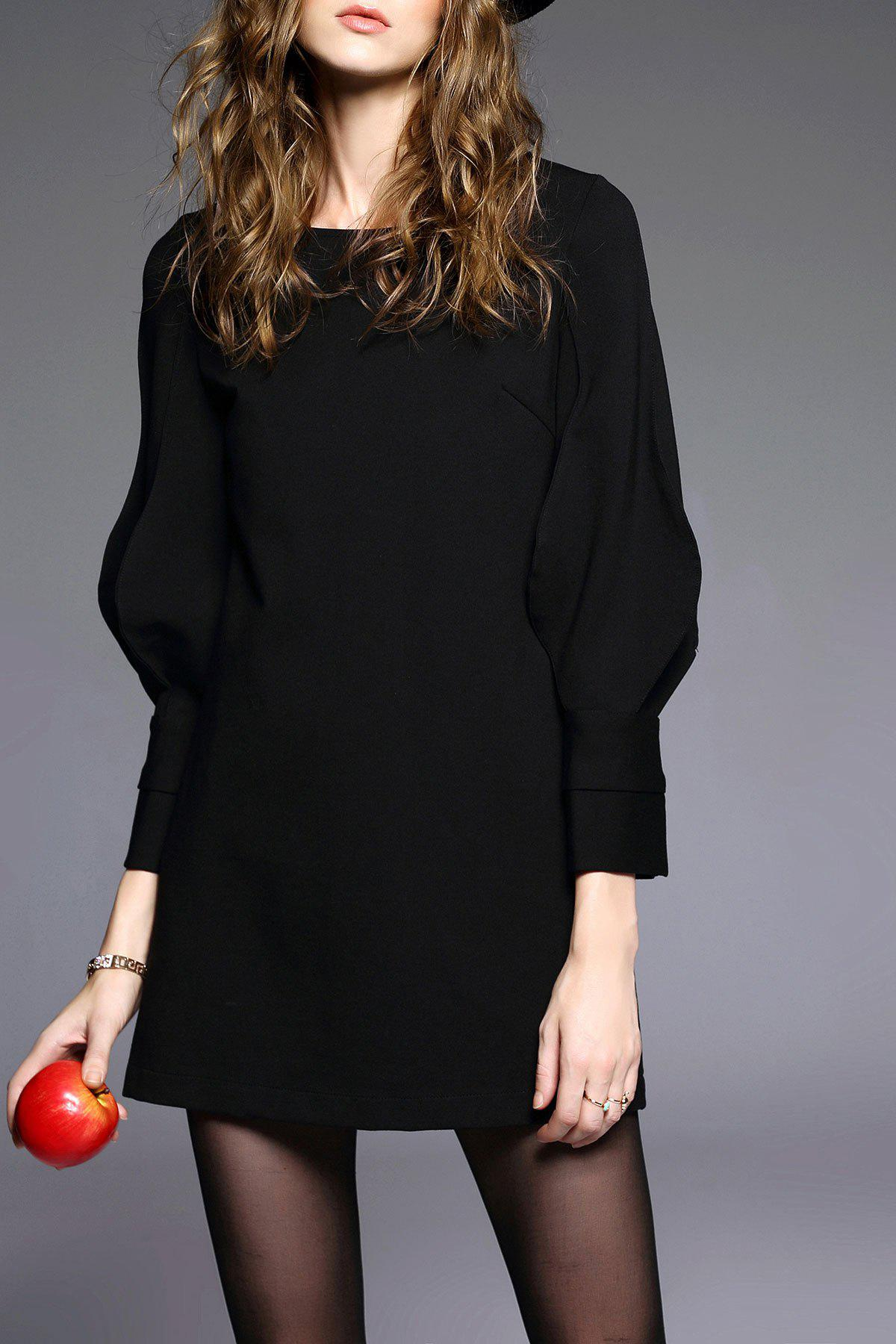 Trendy Puff Sleeve A Line Dress
