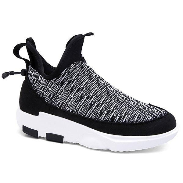 Trendy Platform Slip-On Color Block Athletic Shoes