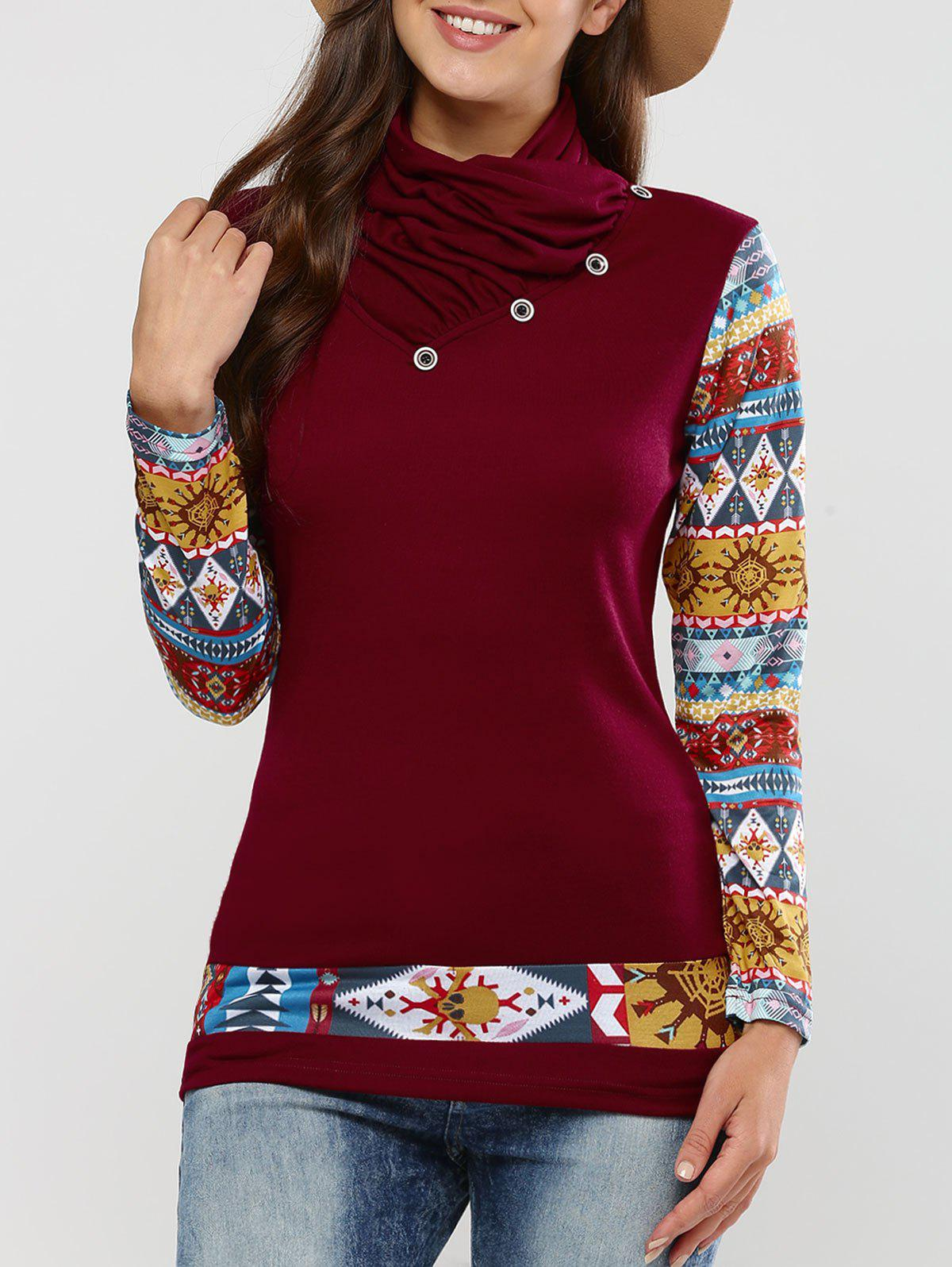 Outfit Long Sleeve Tribal Print T-Shirt