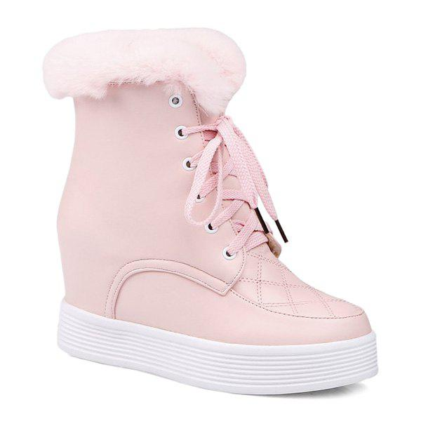 Chic Increased Internal Faux Fur Short Boots