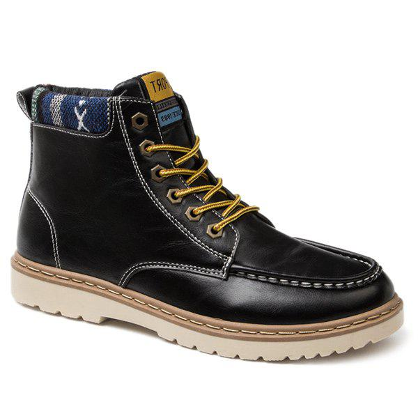 Shop Lace-Up Eyelets PU Leather Work Boots