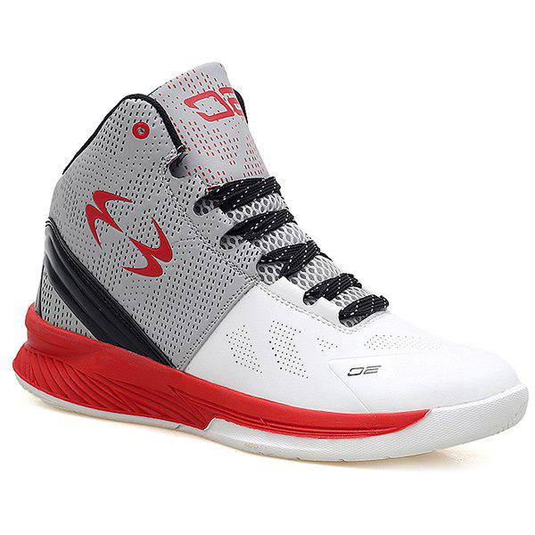 Buy High Top Color Block Athletic Shoes