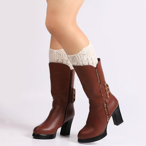Fashion Warm Crochet Sipder Knit Boot Cuffs