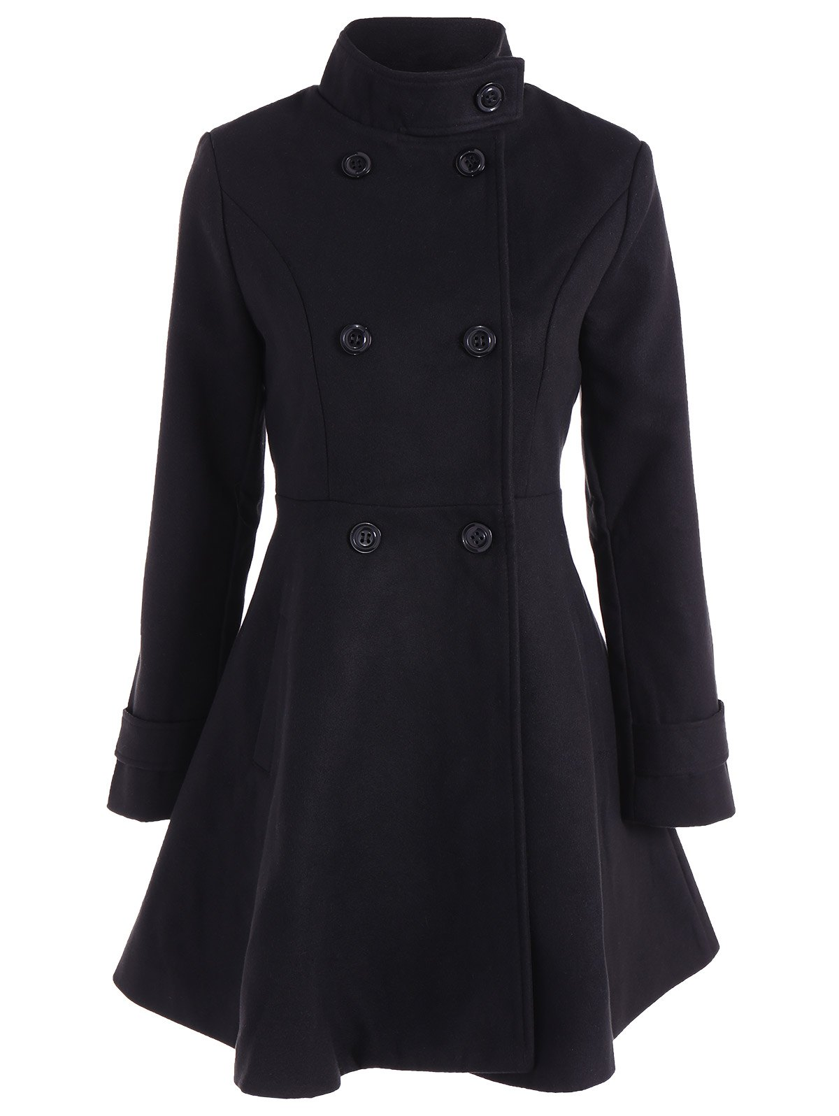 Sale Double Breasted Skirted Coat