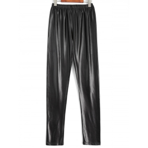 Plus Size Faux Leather Pencil Pants