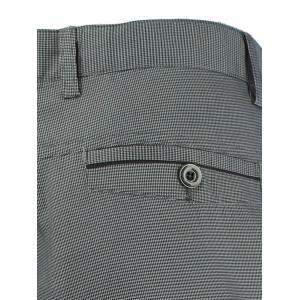 Button Pocket Zipper Fly Chino Pants - GRAY 42