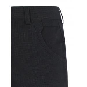 Casual Zipper Fly Straight Leg Tailored Pants - BLACK 42