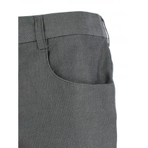 Zip Pocket Mid Rise Straight Casual Pants - GRAY 36