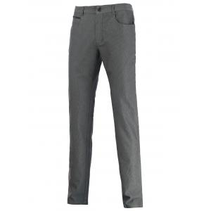 Zip Pocket Mid Rise Straight Leg Pants