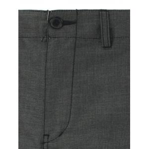 Hip Pocket Zippered Narrow Feet Texture Pants - GRAY 30