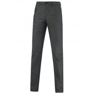 Hip Pocket Zippered Narrow Feet Texture Pants