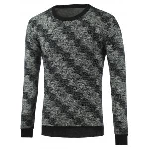 Rib-Hem Heathered Crew Neck Graphic Knitwear