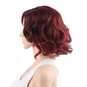 Vivid Short Side Parting Curly Synthetic Wig -