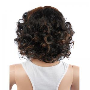 Colormix Short Side Bang Curly Synthetic Wig -