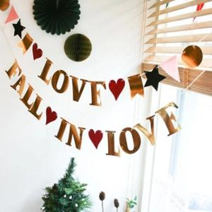 Wedding Home Decor Love Birthday Banner Bunting Party Supplies -