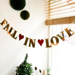 Fall In Love Wedding Decor Banner Bunting Prop Party Supplies -
