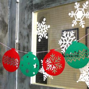Snowflake Balloon Bunting Garland Christmas Party Decoration -