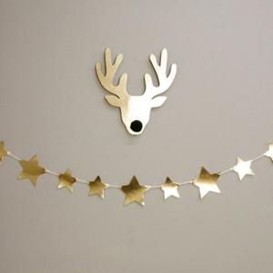 Gold Star Bunting Garland Christmas Party Decoration Supplies