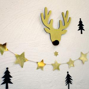 Gold Star Bunting Garland Christmas Party Decoration Supplies -