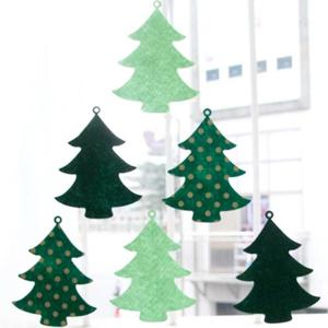 Christmas Tree Bunting Garland Prop Party Showcase Decoration -
