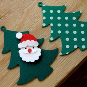Christmas Tree Bunting Garland Prop Party Showcase Decoration - GREEN
