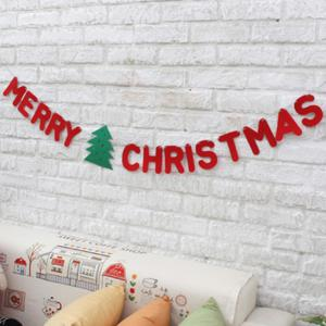 Merry Christmas Letter Banner Bunting Garland Party Decoration