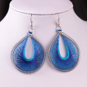 Bohemia Silk Yarn Waterdrop Statement Earrings
