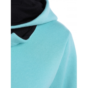 Slim  Fit Hoodie With Pocket - LIGHT BLUE XL