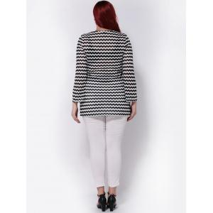 Wave Striped Long Sleeve T-Shirt -