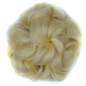 Bouffant Curly High Temperature Fiber Hair Bun - Blonde #613