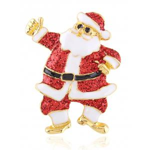 Trendy Santa Claus Enamel Brooch - Red