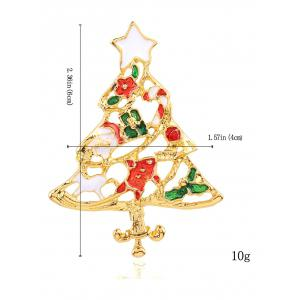 Trendy Christmas Tree Openwork Brooch - RED