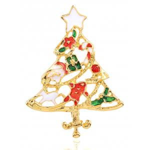 Trendy Christmas Tree Openwork Brooch