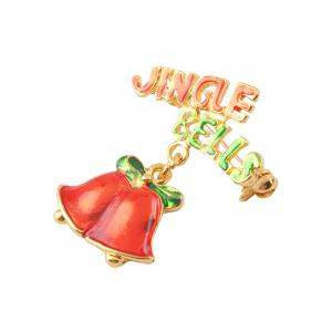 Christmas Jingle Bells Letters Brooch -