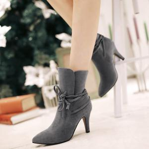 Stiletto Heel Pointed Toe Short Boots -