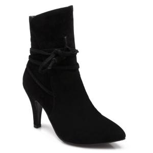Stiletto Heel Pointed Toe Short Boots