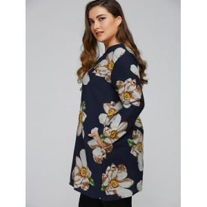 Plus Size Floral Print Pocket Design Dress -