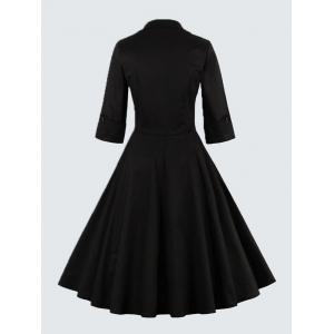 Plus Size Vintage Bowknot Skater Dress -
